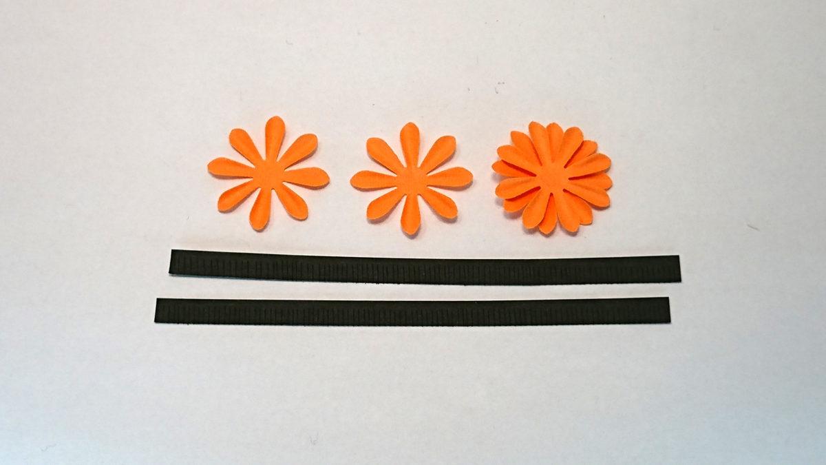 オレンジの花の部品