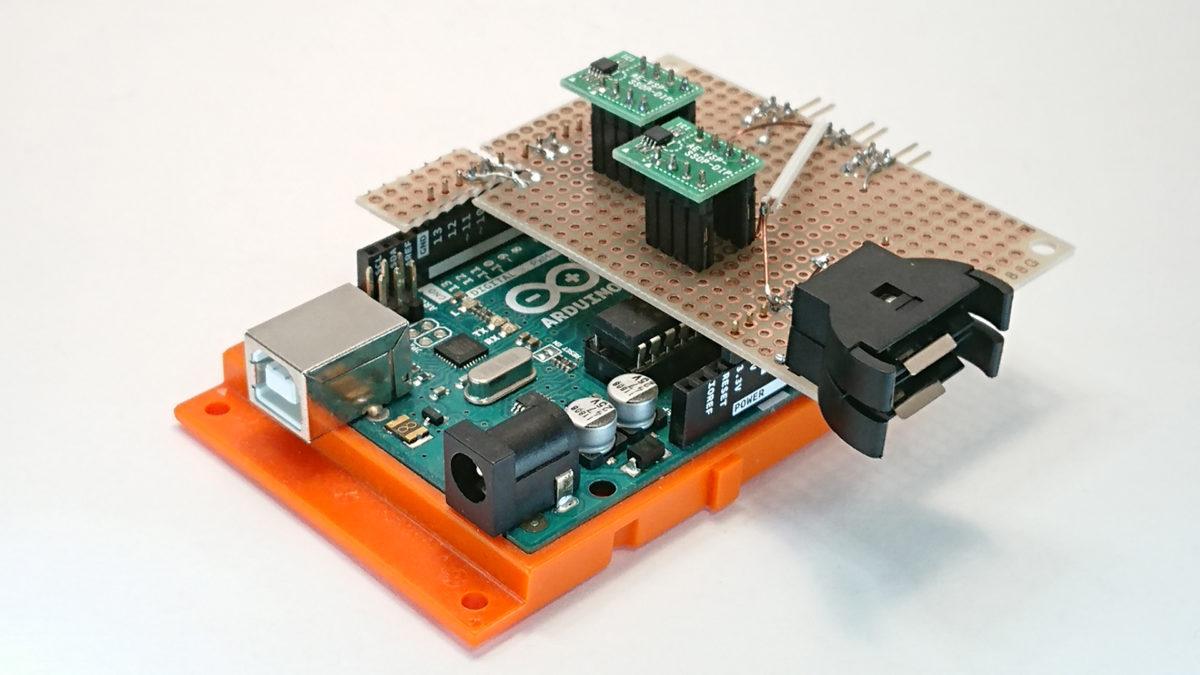 Arduinoに載せたユニバーサル基板